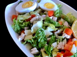 salpicon de pollo y verduras